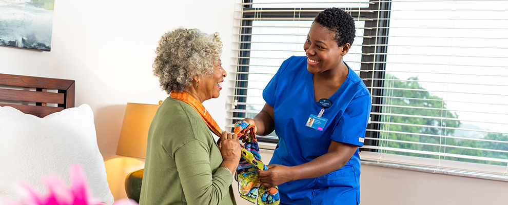 Dedicated nurse providing care to a patient